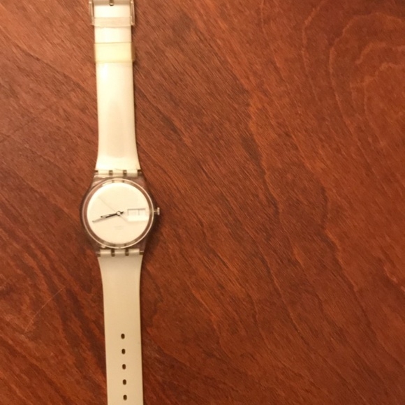 Shimmery White Swatch Watch